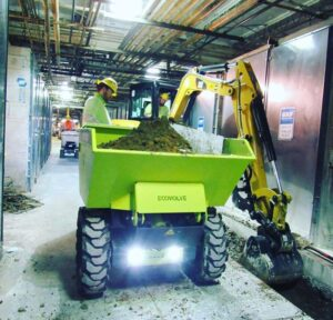 ED1500 Electric Dumper on site